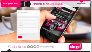 Landing Page Contacto Stooge! web+mobile_www.stooge.com.ar